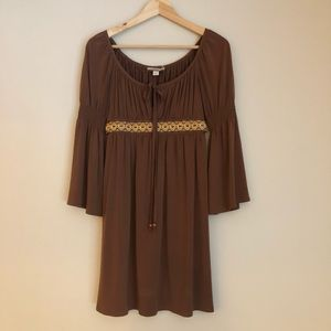 Bohemian dress by Muse for Boston Proper -Brown XS